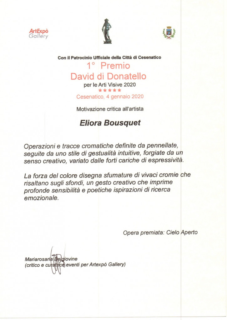 critique d art premio david di donatello 2020 eliora bousquet