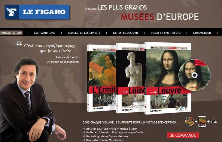 Visuel promotionnel de la collection de DVD : Les plus grands musées d'Europe
