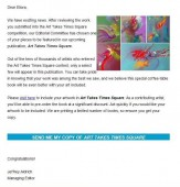 "Email d'Artists Wanted à Eliora : livre d'art ""Art Takes Times Square"""