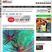 Site internet d'Art Tour International - Red Dot Art Fair Miami