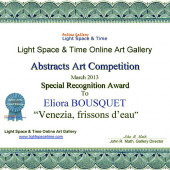 Eliora BOUSQUET - ABSTRACTS 2013 AWARD CERTIFICATE