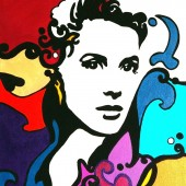 Portrait pop art de Grace Kelly 1 par Eliora Bousquet