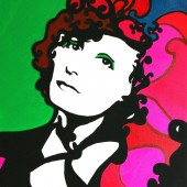 Portrait pop art de Greta Garbo 2 par Eliora Bousquet