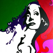 Portrait pop art de Greta Garbo 1 par Eliora Bousquet