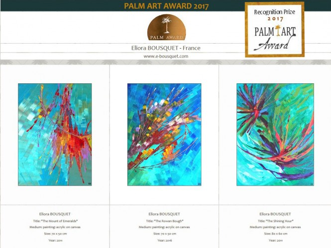 prix palm art award 2017 recognition prize eliora bousquet