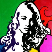 Portrait pop art de Veronica Lake par Eliora Bousquet