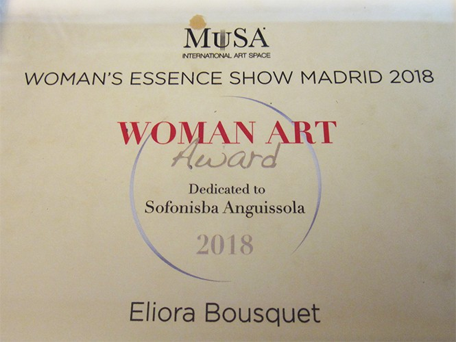 woman art award 2018 eliora bousquet